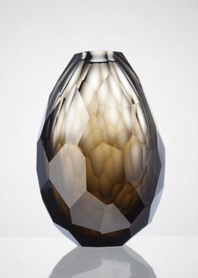 Product Design - Rony Plesl, hand blown and cut vase