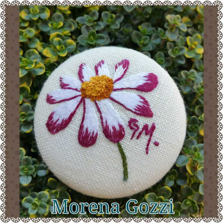 My embroidered daisy.