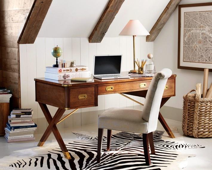 hickory chair julien desk. attic workspace. antique style campaign desk by hickory chair + pattern texture julien