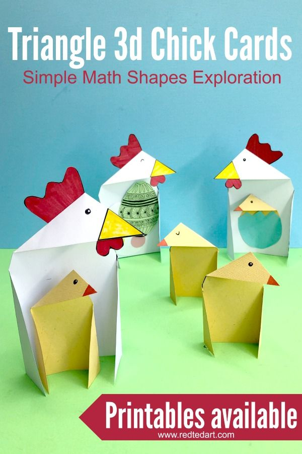 Triangle Paper Craft Chicken Chick Latest From Red Ted Art