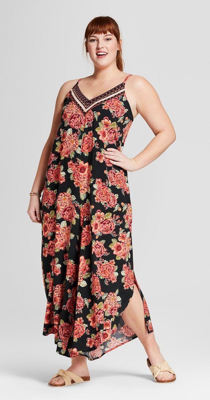 4759017d6d83d Plus Size Floral Print Maxi Jumpsuit  plussize