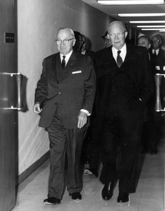 Former Presidents Truman and Eisenhower