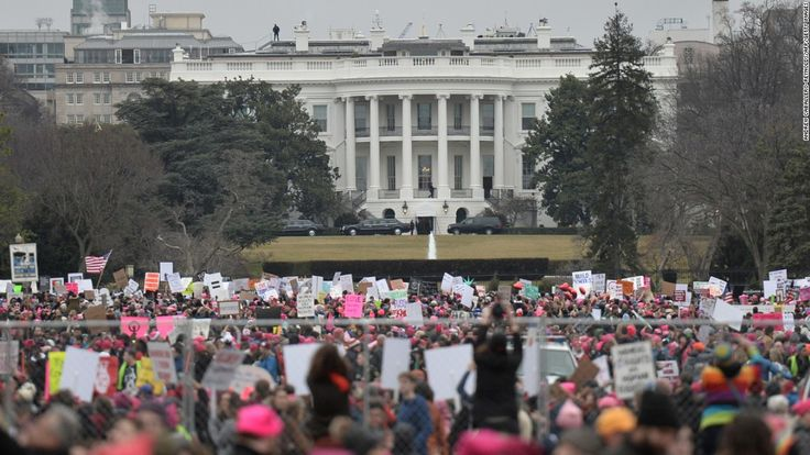 The day after President Donald Trump's Inauguration, a sea of people clad in pink hats walked toward the Capitol in Washington DC, setting the stage for a nationwide Women's March movement.