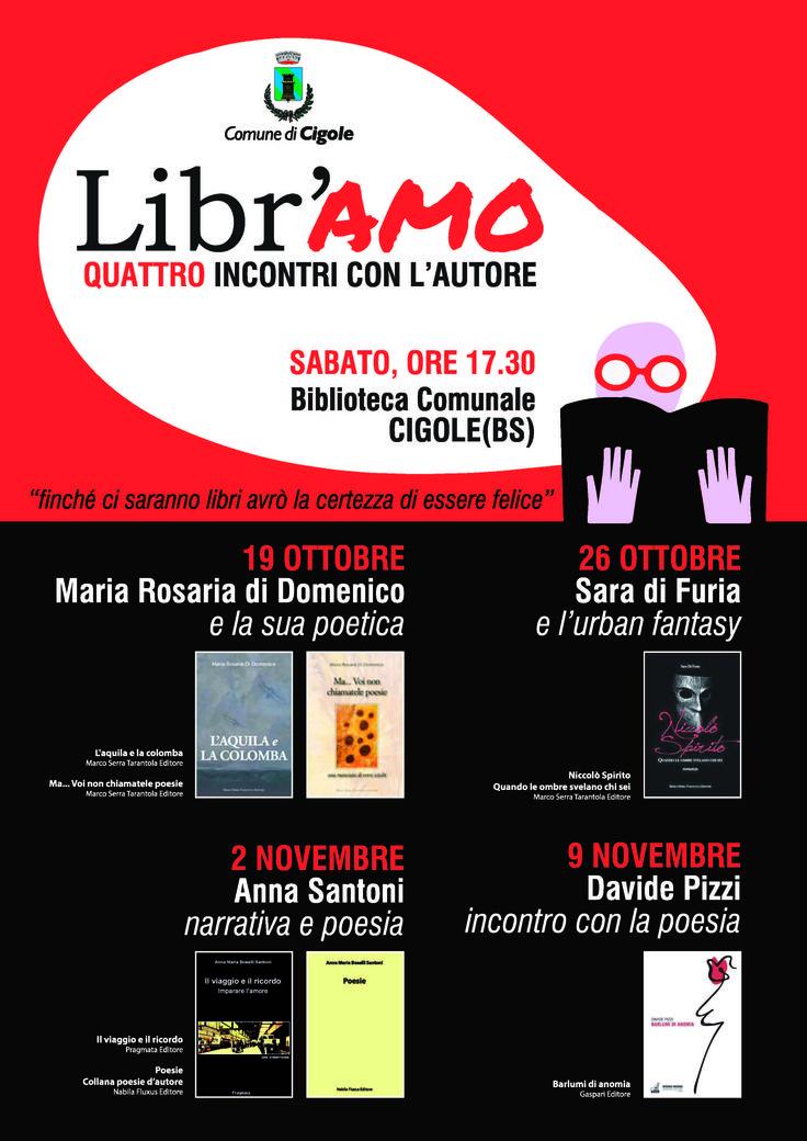 26 Ottobre - Biblioteca di Cigole (BS) - Sara di Furia e l'urban fantasy