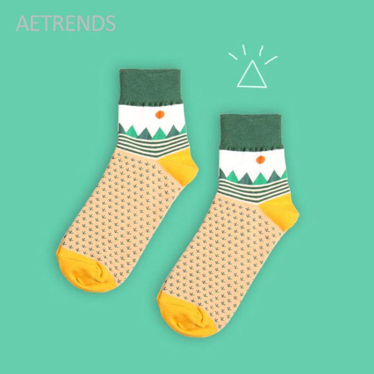 [NEW] 2017 Cotton Cute Women's Socks Meias Retro Embroidery Long Funny Socks Multicolor Girls Socks Women Accessories Q029 #Affiliate