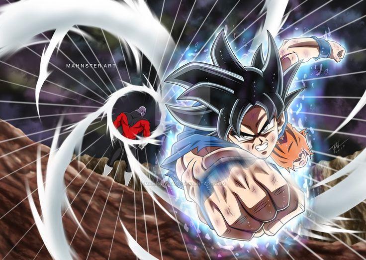 Goku Ultra Instinct vs Jiren! by MahnsterArt