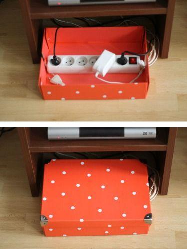Banish Cord Clutter #homehack #tidy2015