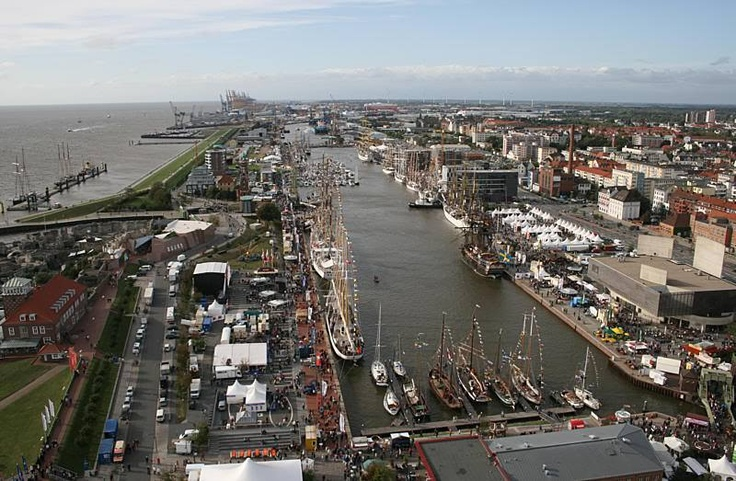 The Port of Bremerhaven Germany during the Sail event!