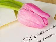 convite de casamento com flor