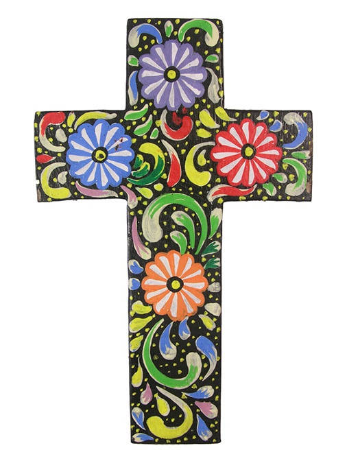 painted+crosses+wood | wooden cross. This cross comes decorated with a fantastic painted ...