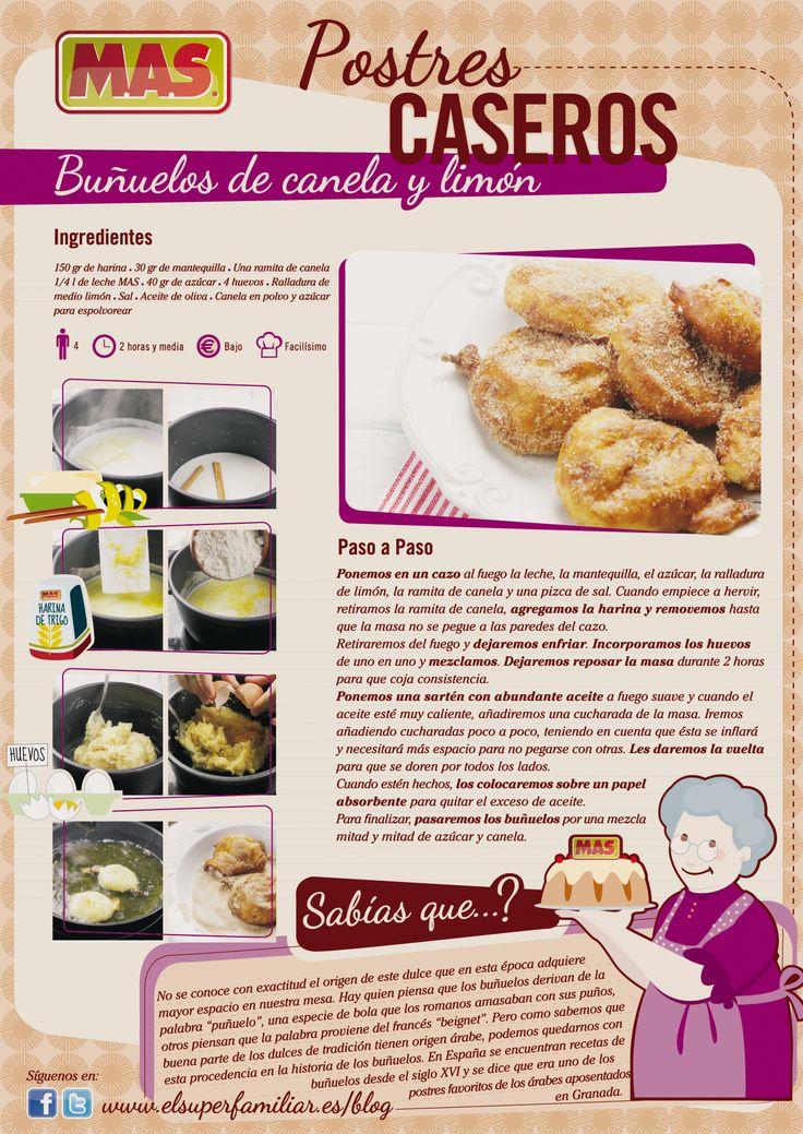 como preparar la receta de buñuelos caseros con canela y miel,