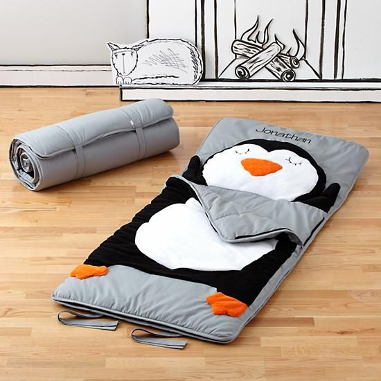 How Do You Zoo Sleeping Bag (Penguin) in Sleeping Bags | The Land of Nod-WANT!