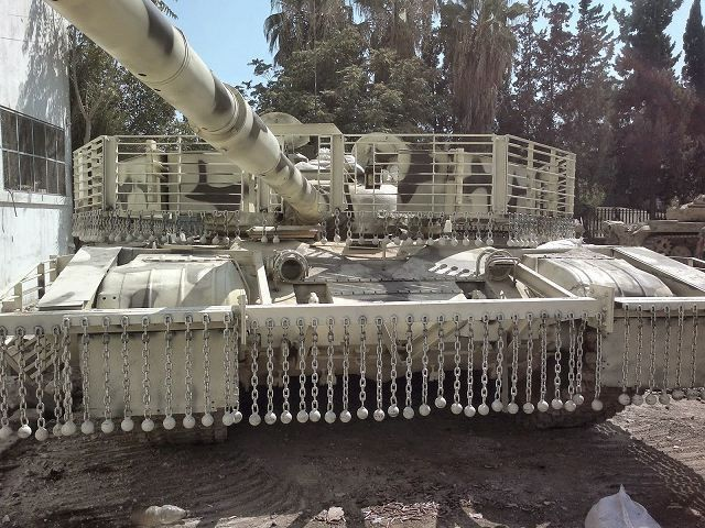 Syrian armed forces develop new upgrade for its range of combat vehicle with local-made armour cage to increase protection against anti-tank-missile and RPG (Rocket Propelled Grenade). Many pictures are published on Internet showing T-72 fitted with armour cage, but also the ZSU-23-4 Shilka anti-aircraft gun.