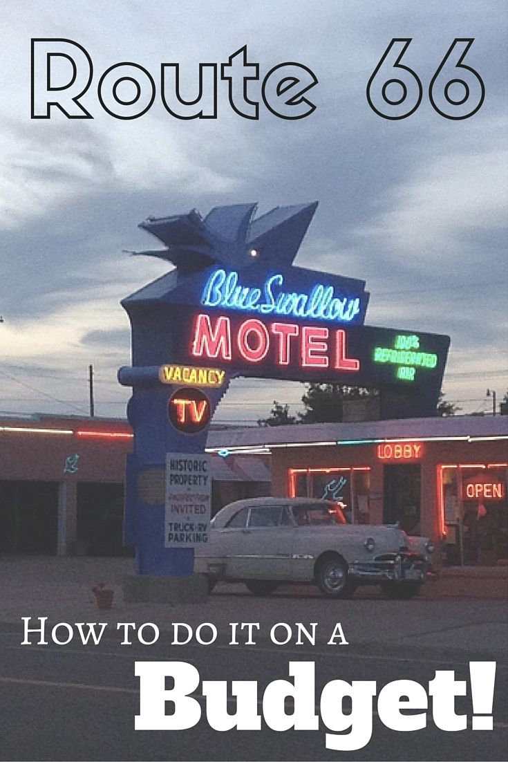 Route 66 - some tips on how to keep costs down while on the mother road