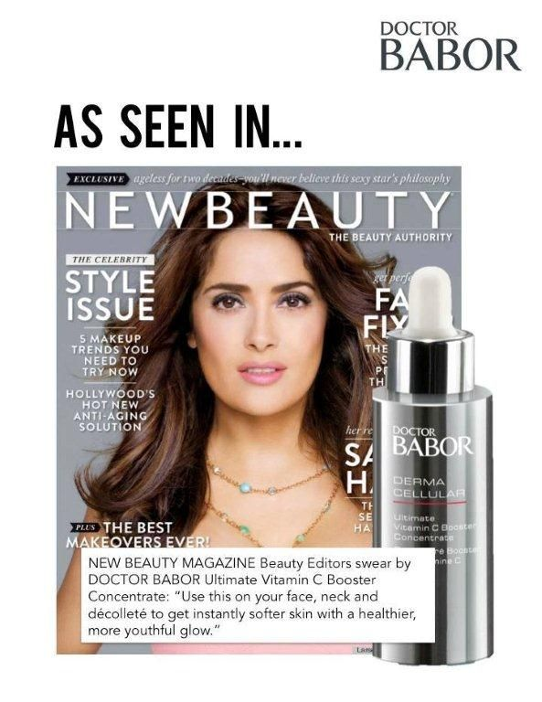 "NEW BEAUTY MAGAZINE beauty editors swear by DOCTOR BABOR Ultimate Vitamin C Booster Concentrate: ""Use this on your face, neck and decollete to get instantly softer skin with a healthier, more youthful glow."" http://ow.ly/xJAfE"