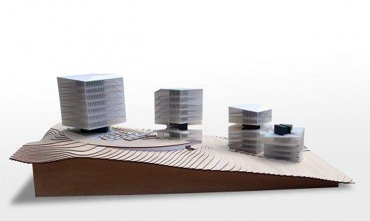 Ordos 20+10 Office Complex / Preston Scott Cohen | ArchDaily