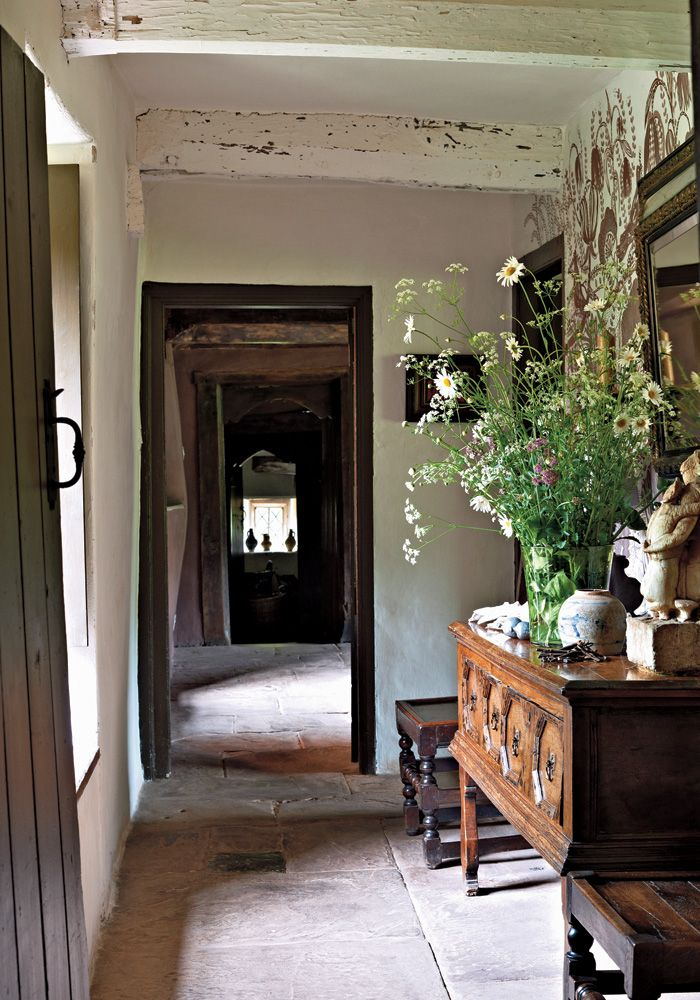 Arne Maynard's rustic-chic house and tapestried grounds in the Welsh countryside, photo by Tom Mannion for T magazine.
