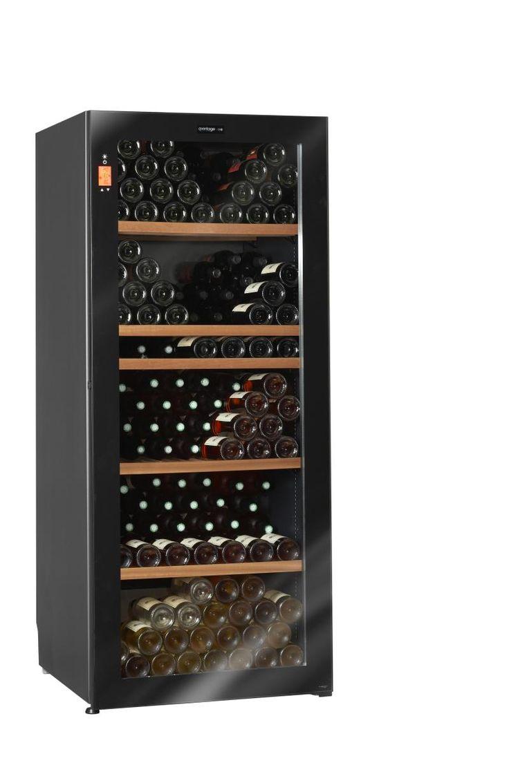 Climadiff DV265MGN2U Diva 265 Bottle Multi-Temperature Glass Door Wine Cabinet