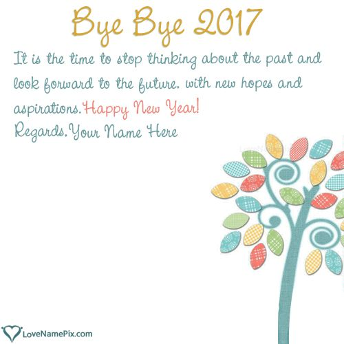 12 Best GoodBye 2017 Hello 2018 Wishes Quotes With Name