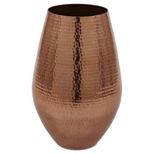 Buy Large Hammered Metal Vase from our Vases & Bowls range - Tesco