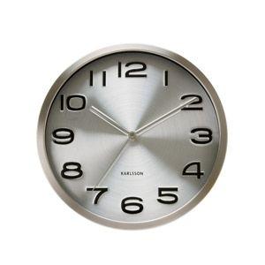 Zegar ścienny Maxie srebrny