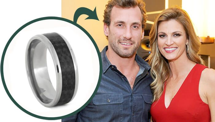 Our Celebrity Wedding Ring Suggestions: Jarret Stoll Carbon Fiber Titanium Wedding Band