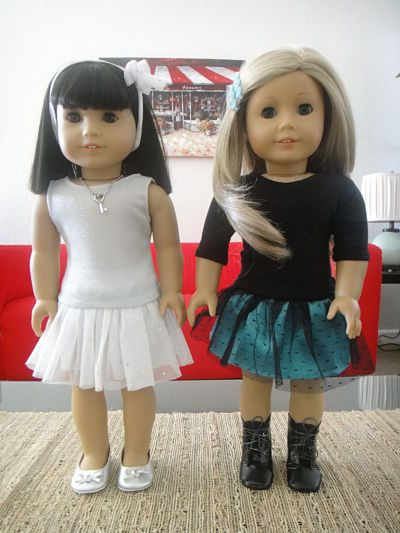 No Pattern Party Skirt | Free Sewing Pattern for American Girl Dolls
