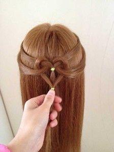 发型 心形 编发 美美哒~