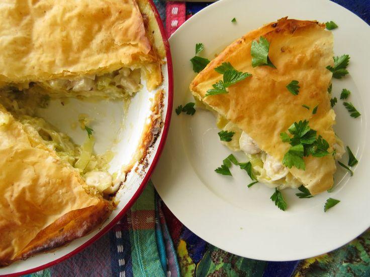 Chicken and Brie Filo Pie