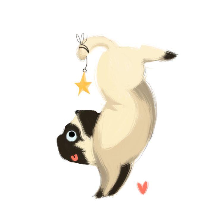 Pug doing a handstand! – for @linneakou - Nim-lock