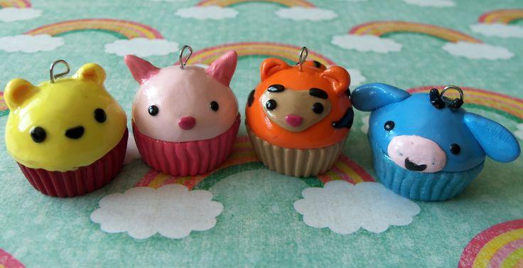 Winnie the Pooh cupcakes    #cupcake #winniethepooh #piglet #tigger #eeyore #polymerclay  visit my shop on etsy! www.etsy.com/shop/TheCraftyWhale