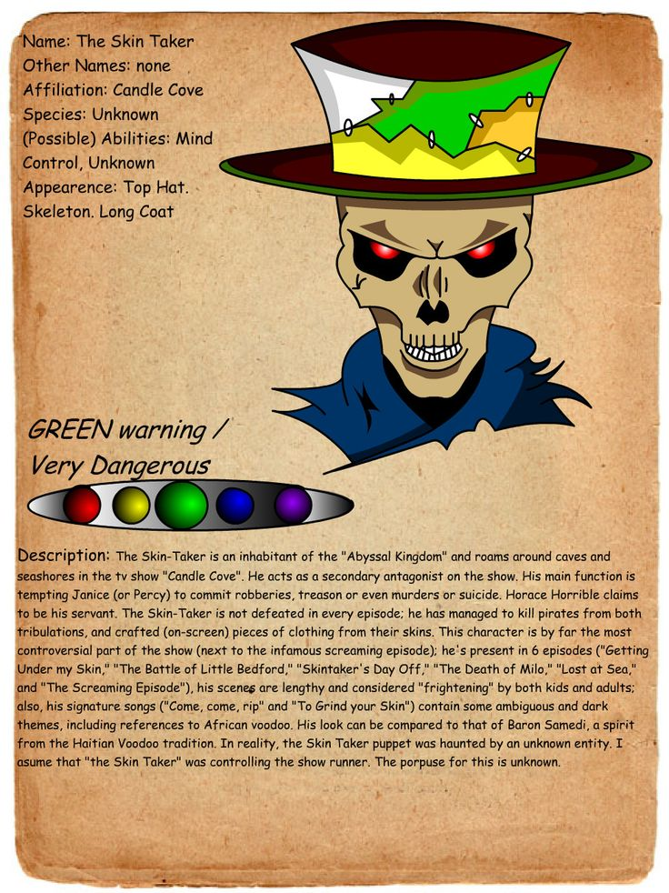 creepypasta profiles   ... entry the skin taker by shadowgerbil-d4eubxb.jpg - Creepypasta Wiki