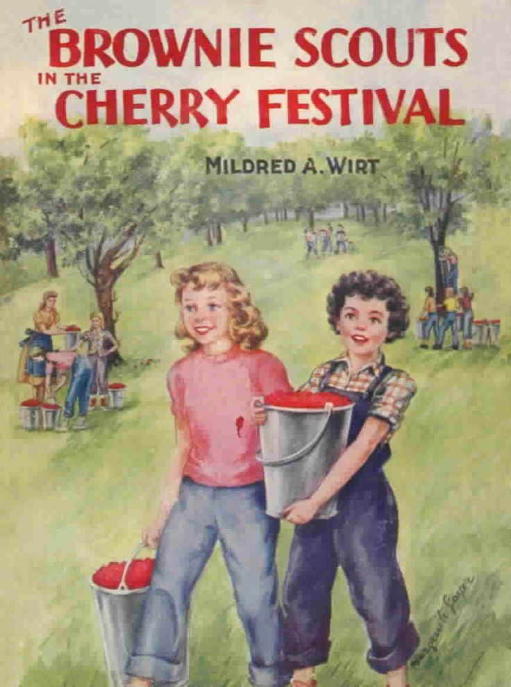 The Brownie Scouts in the Cherry Festival 1950Vintage Books, Cherries Festivals, Vintage Festivals, Comics Book, Brownies Scouts, Cheery Cherries, Festivals 1950, Book Collection, 1950S Vintage