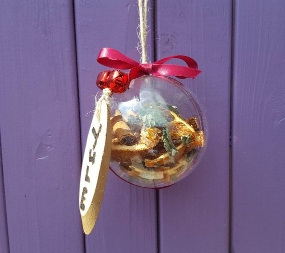 Yule Witch Ball Yuletide Tree Bauble Dried Oranges Pagan