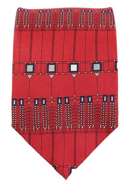 417c0a9df048 Boxelder Frank Lloyd Wright Tree of Life Red Silk Tie Review | Men ...