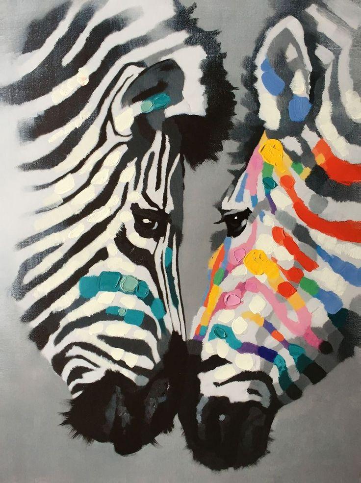 Zebre   Misure: 60x80  Hand painted prints