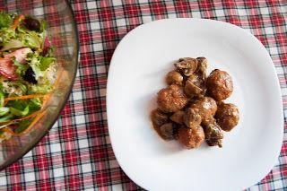 La cuina dels Peris: Albondigas de pollo con mostaza y tomates secos