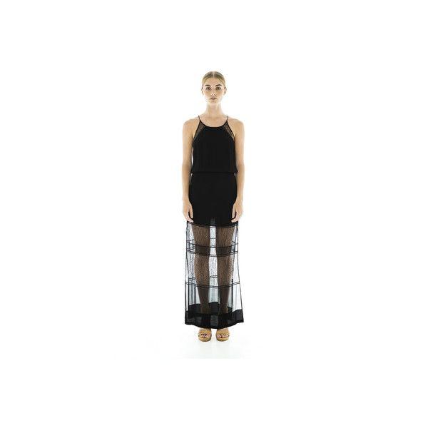 Last Song Maxi Dress -Black via Polyvore
