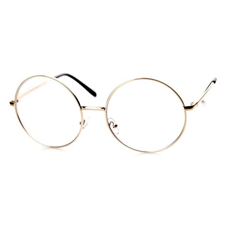 large oversized metal frame clear lens round circle eye glasses dgeyewear designer