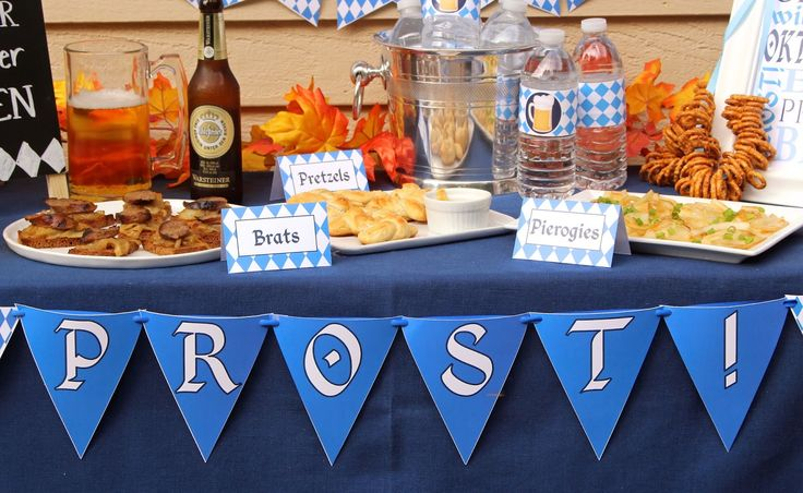 Printable Oktoberfest banners and party tips
