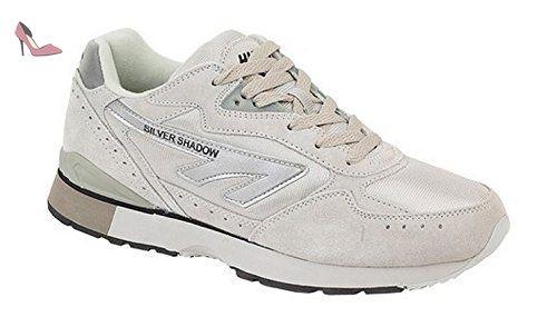Hi-Tec Silver Shadow Unisex Trainer - 8.5 - Chaussures hi tec (*Partner-Link)