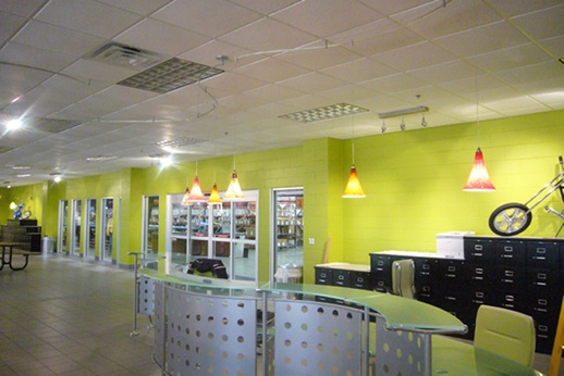 Corporate Interior Design...this looks just like the Citron color I want to paint my kitchen with. <3