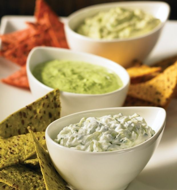 Healthy Party Dips?  I wasn't even sure those words could exist together in one sentence.  Yum!