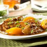 Pork Tenderloin with Peach & Pecan Sauce: Sauces Recipe, Pork Tenderloins Recipe, Pork Recipe, Pecans Sauces, Food Dinners, 40 Minute, Peaches, Campbell Kitchens, Pork Chops