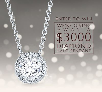 Enter to Win a $3,000 Diamond Halo Pendant!