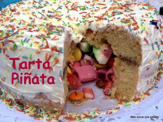 Tarta Piñata para el Cumpleaños de Carmen