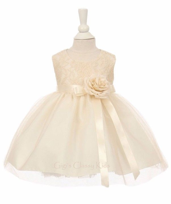 New Baby Girls Two Tone Dress Pageant Wedding Birthday Easter Formal Party 1142