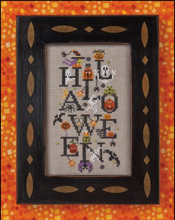 Halloween Party - Cross Stitch Pattern  by Just Nan