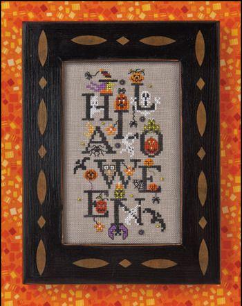 Halloween Party - Cross Stitch Pattern  by Just Nan