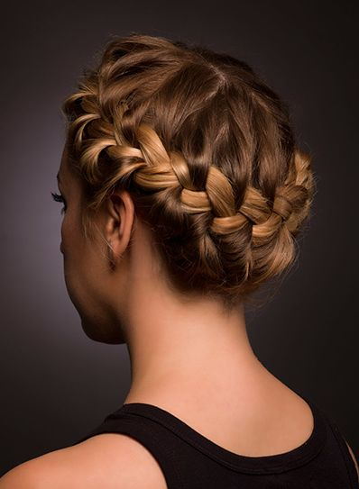 Beautiful braided updo <3<3 Visit http://www.makeupbymisscee.com/ For tips and how to's on #hair #beauty and #makeup